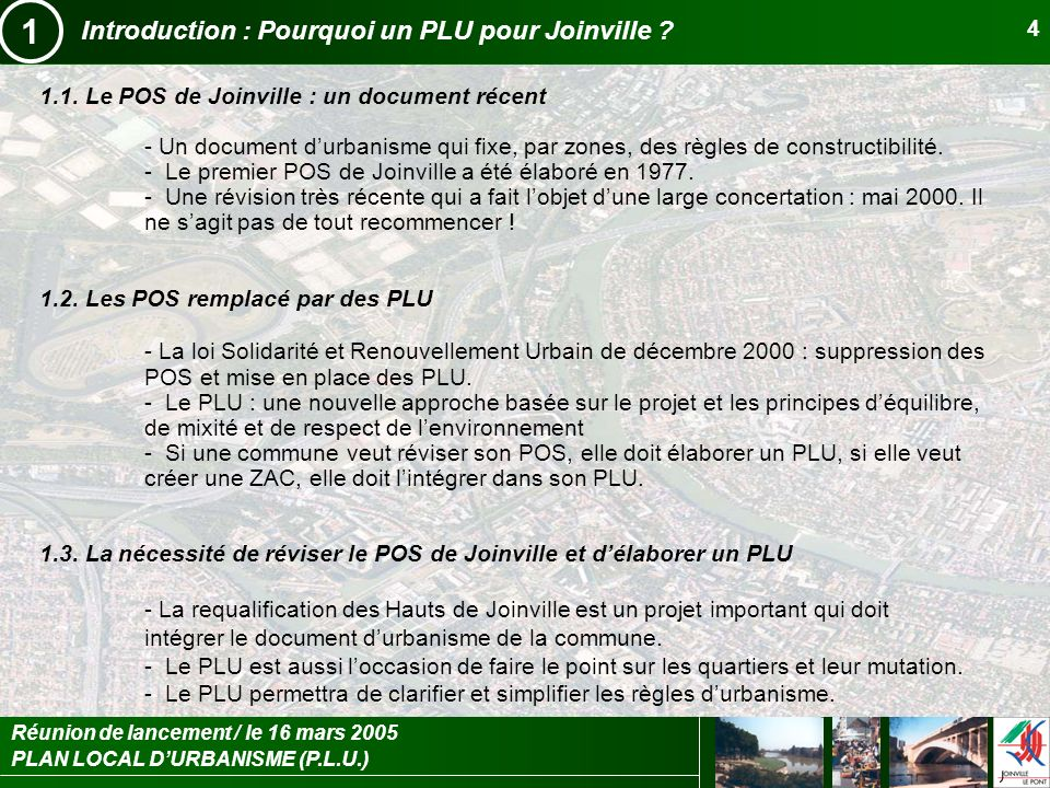 1 Introduction : Pourquoi un PLU pour Joinville