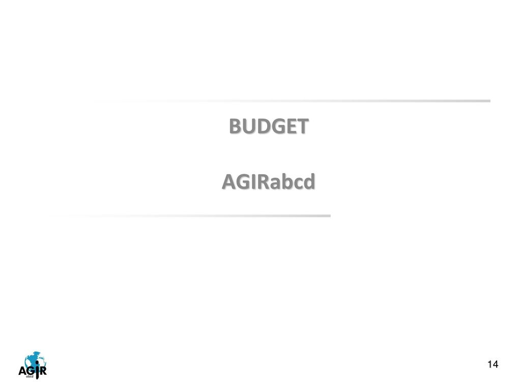BUDGET AGIRabcd