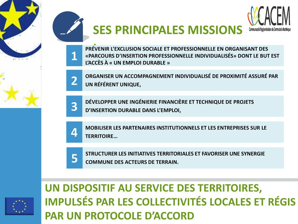 SES PRINCIPALES MISSIONS :