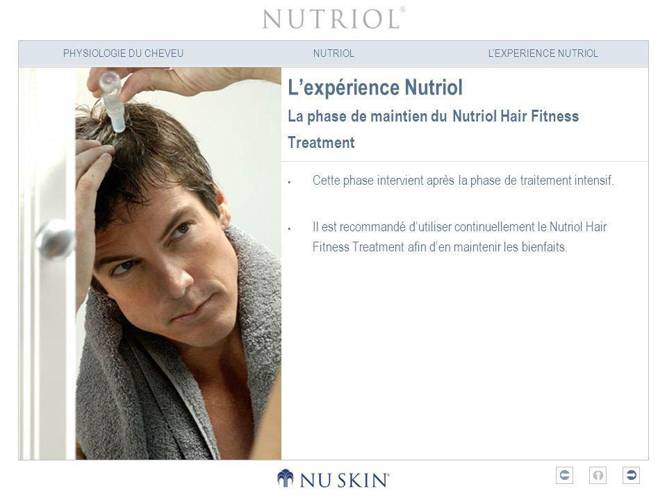 L'expérience Nutriol La phase de maintien du Nutriol Hair Fitness Treatment