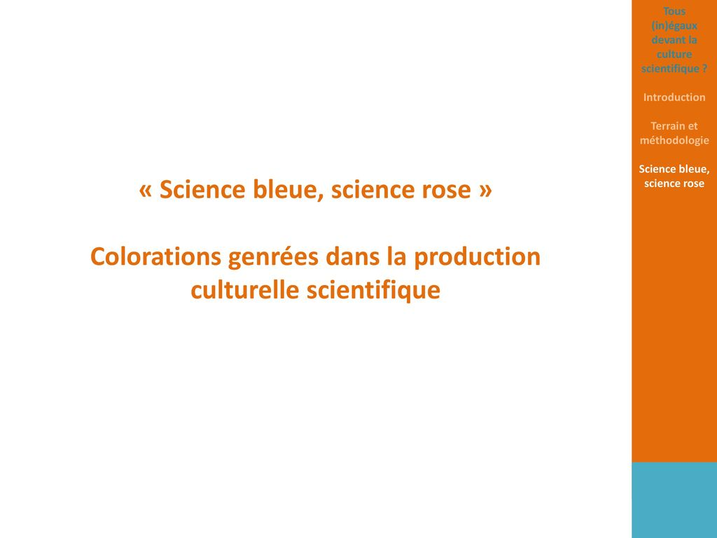 « Science bleue, science rose »