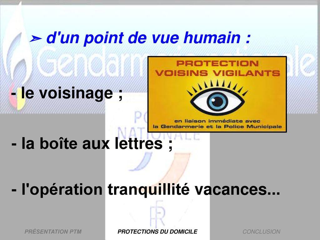 tranquillité vacances gendarmerie 2017