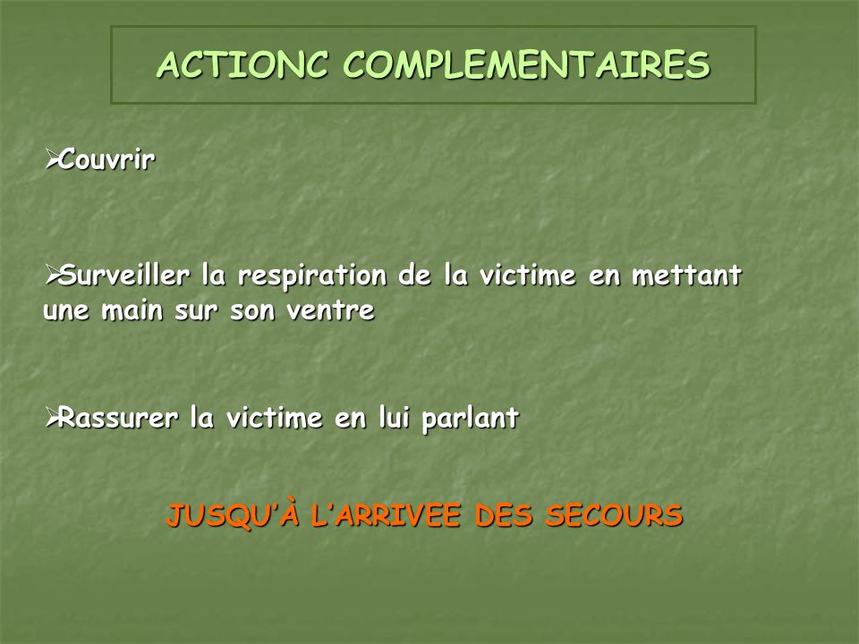 ACTIONC COMPLEMENTAIRES
