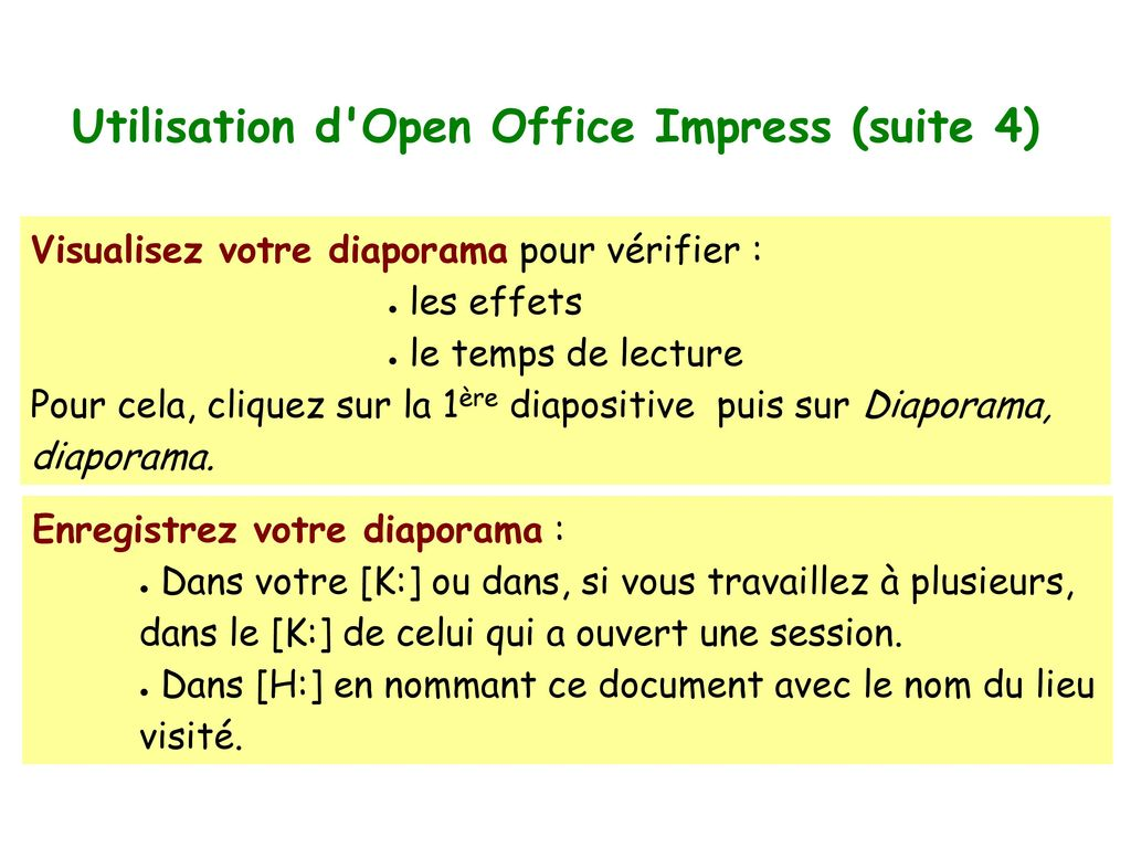 Utilisation d Open Office Impress (suite 4)