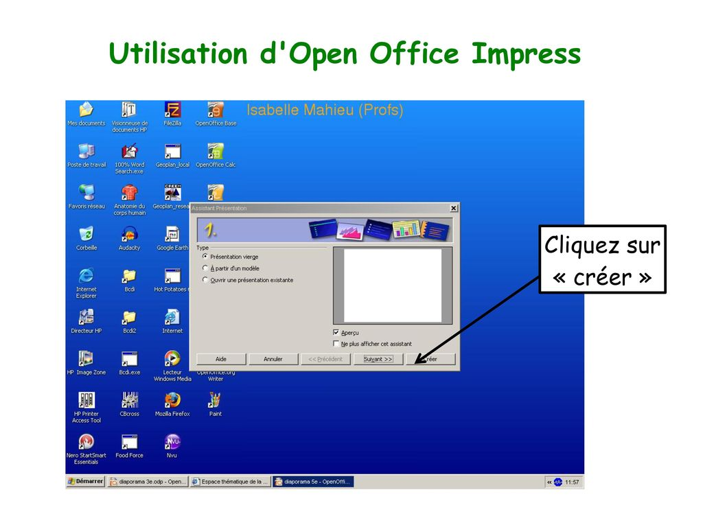 Utilisation d Open Office Impress