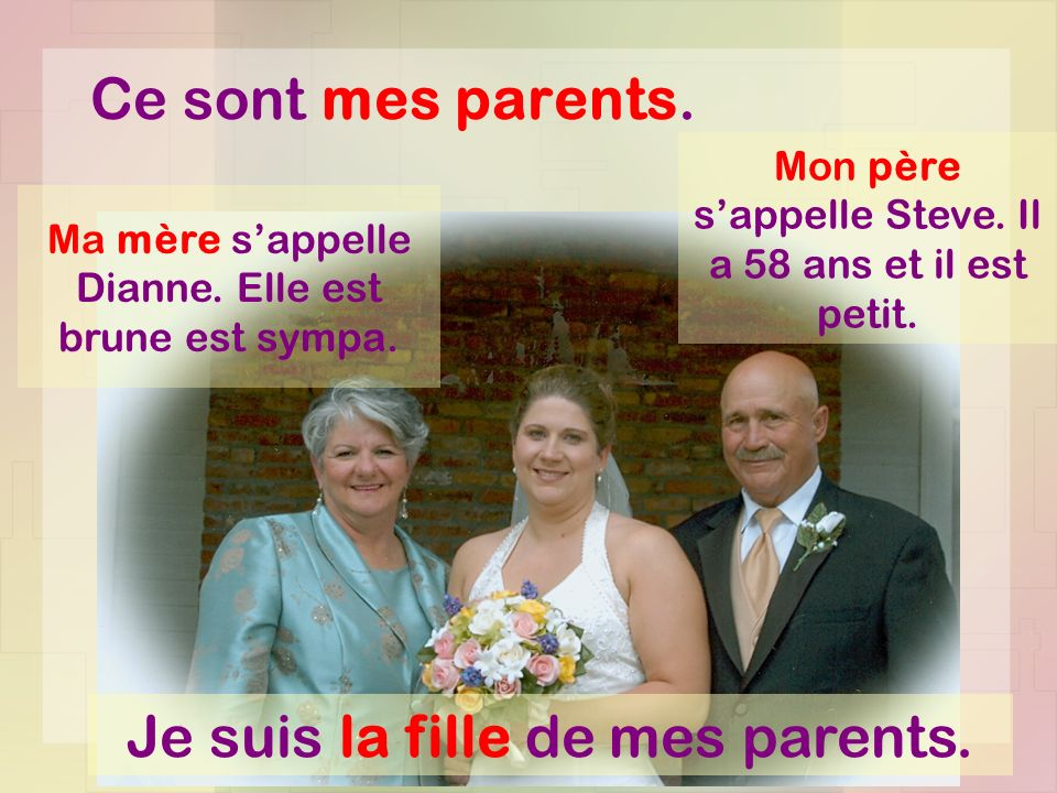Je suis la fille de mes parents.