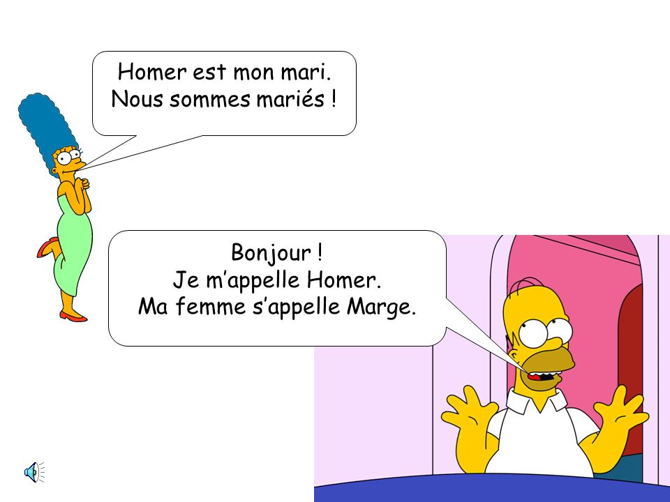 Ma femme s'appelle Marge.