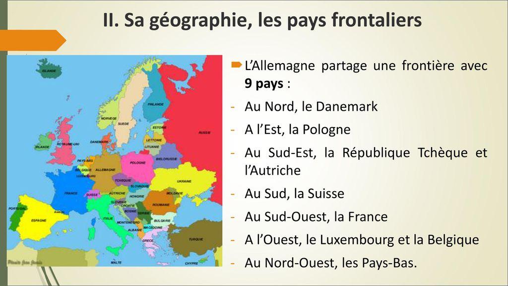 Carte Allemagne Pays Frontaliers.L Allemagne Un Pays De L Europe Centrale Ppt Telecharger