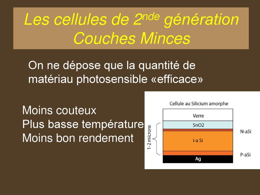 Cellule Photovoltaïque En Silicium Amorphe pour les différentes technologies - ppt télécharger
