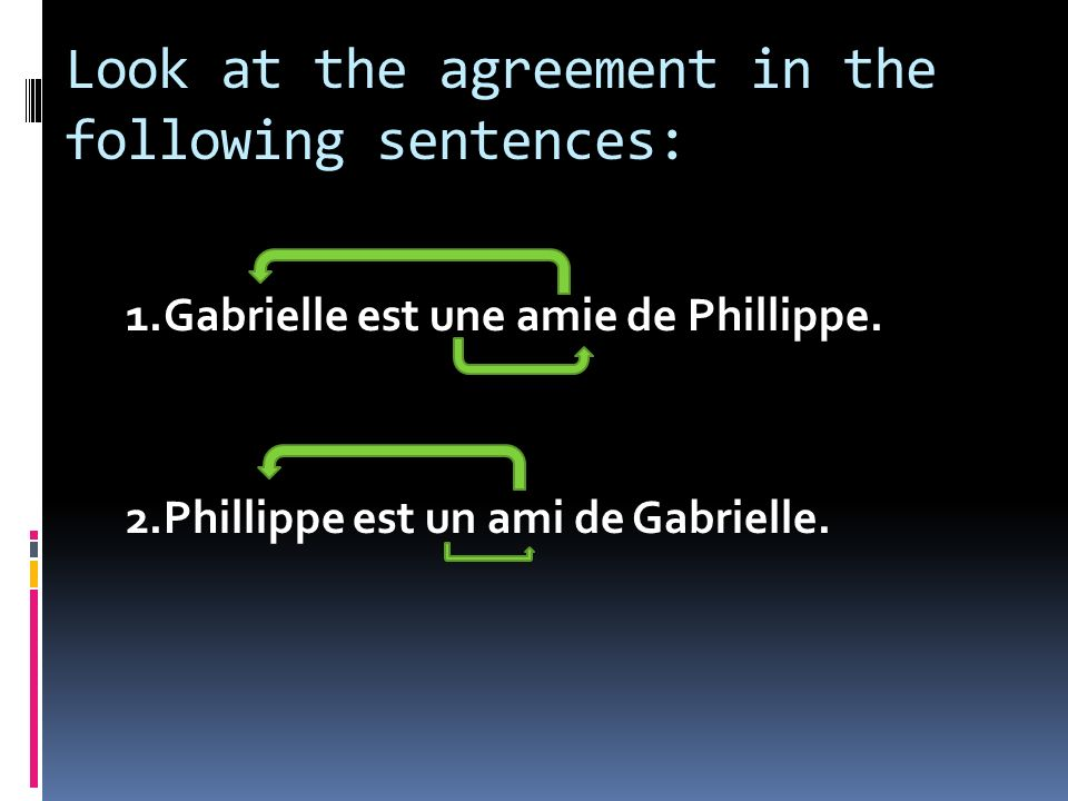 Look at the agreement in the following sentences:
