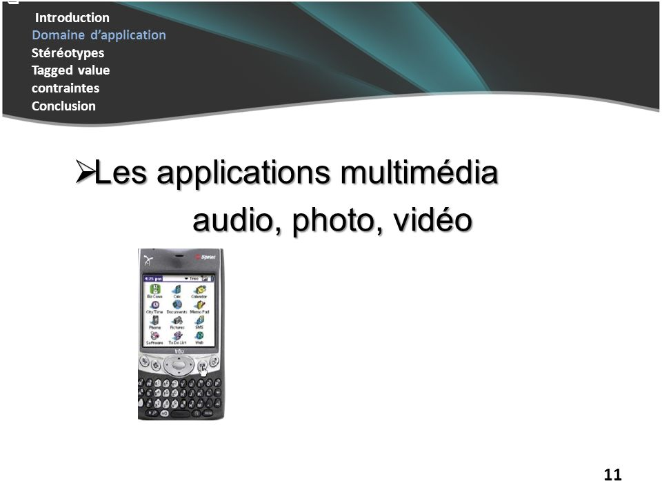 Les applications multimédia audio, photo, vidéo