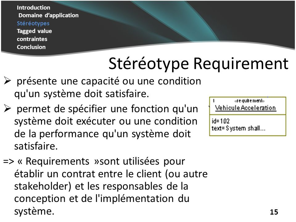 Stéréotype Requirement