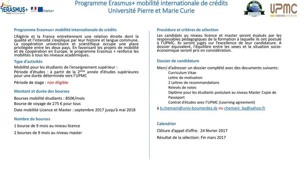 Programme Erasmus Mobilité Internationale De Crédits