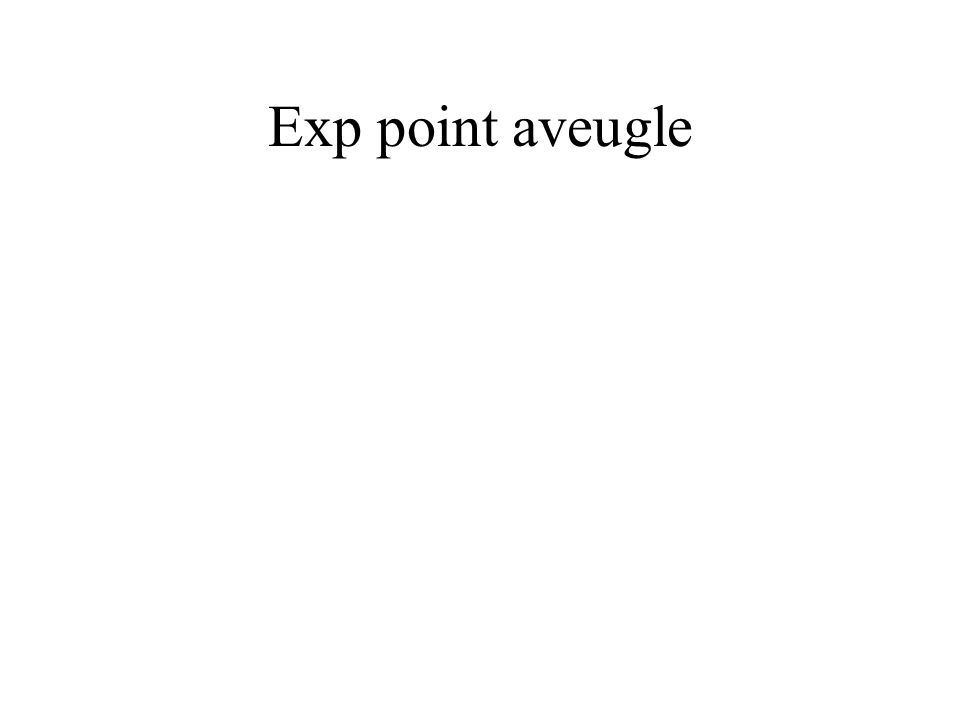 Exp point aveugle