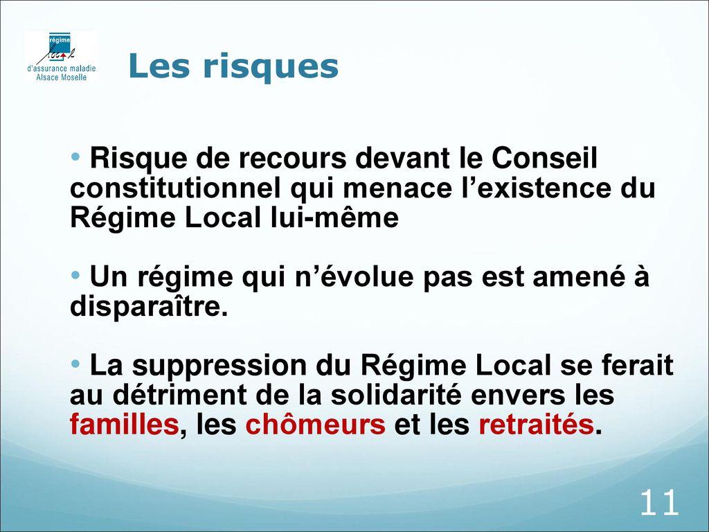Le Regime Local D Assurance Maladie Alsace Moselle Ppt