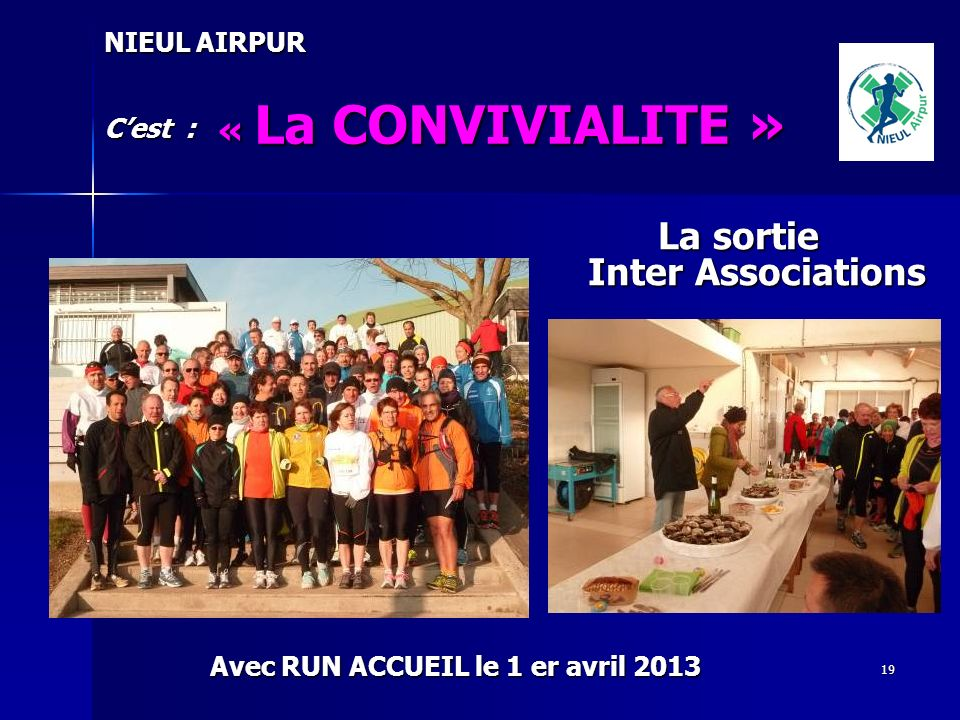 La sortie Inter Associations
