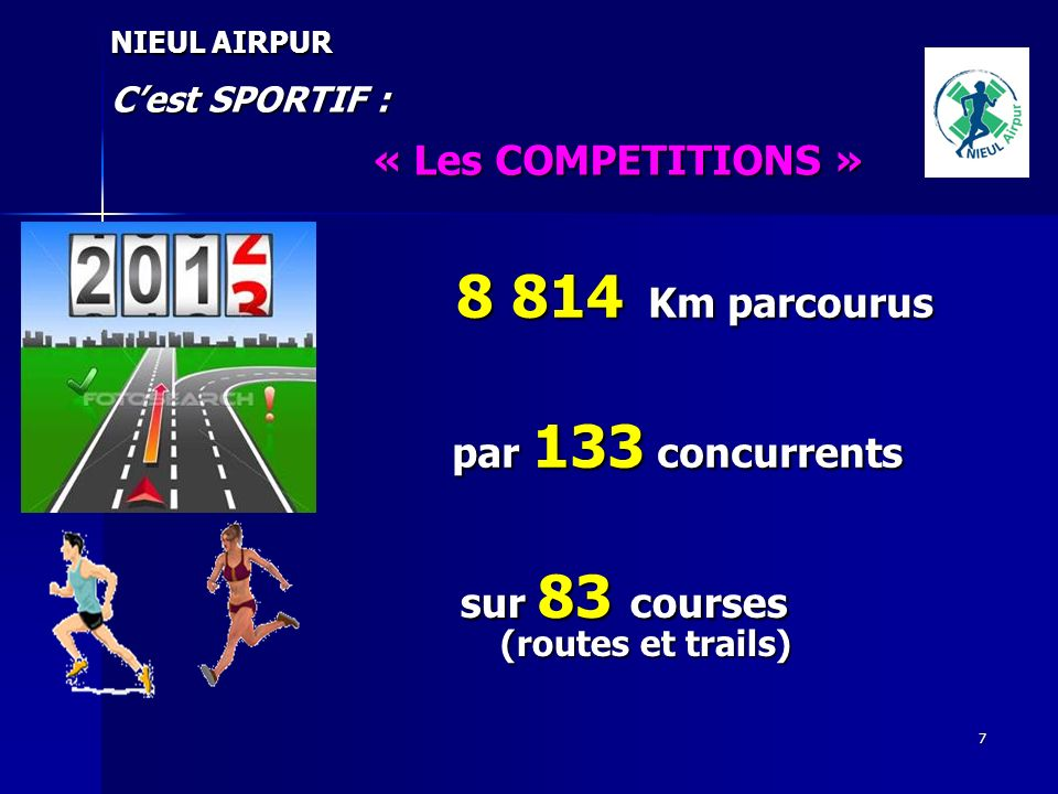 8 814 Km parcourus « Les COMPETITIONS » par 133 concurrents