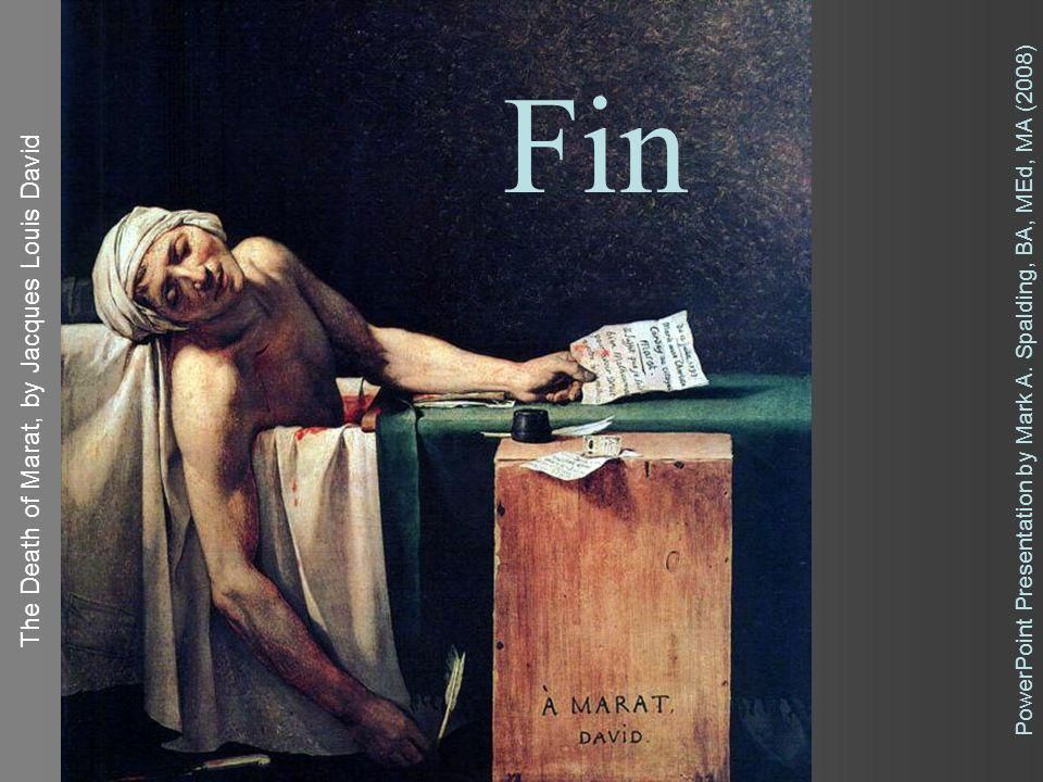Fin The Death of Marat, by Jacques Louis David