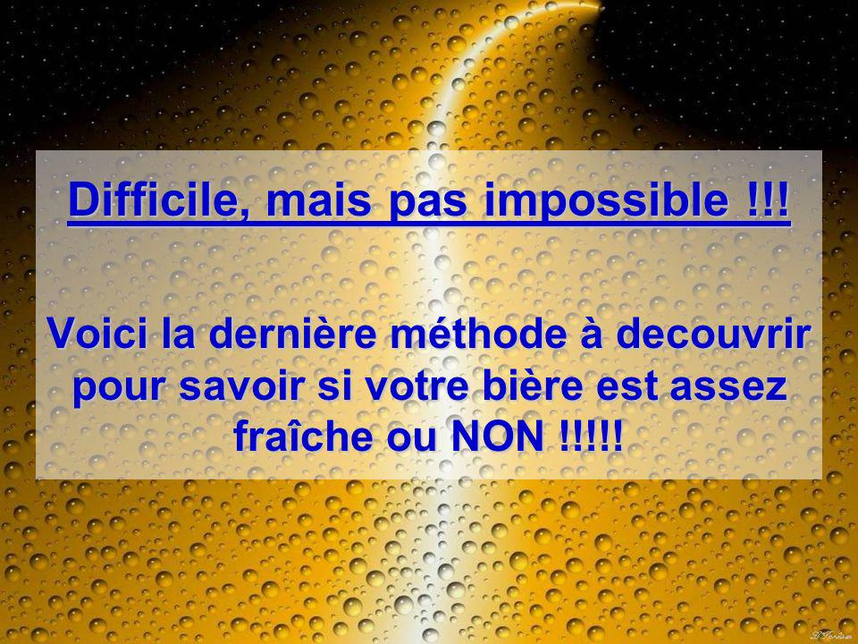 Difficile, mais pas impossible