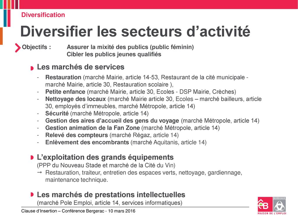 La Mise En œuvre Des Clauses D Insertion A Bordeaux Ppt Telecharger