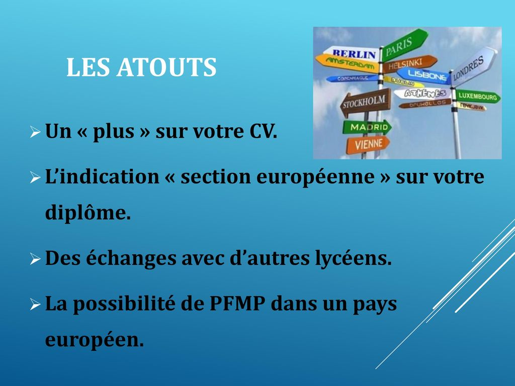 section europeenne bac pro tertiaire