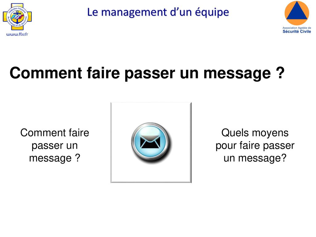 Comment faire passer un message