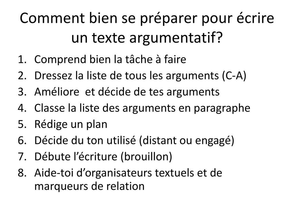texte argumentatif secondaire 3-enrichi