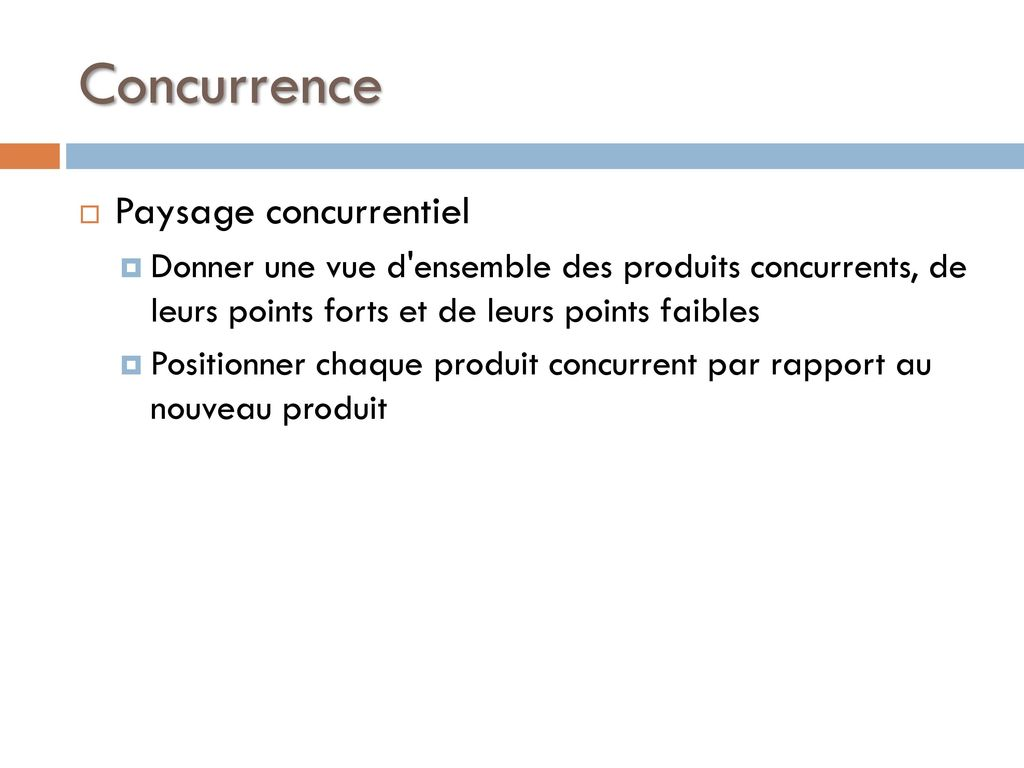 Concurrence Paysage concurrentiel
