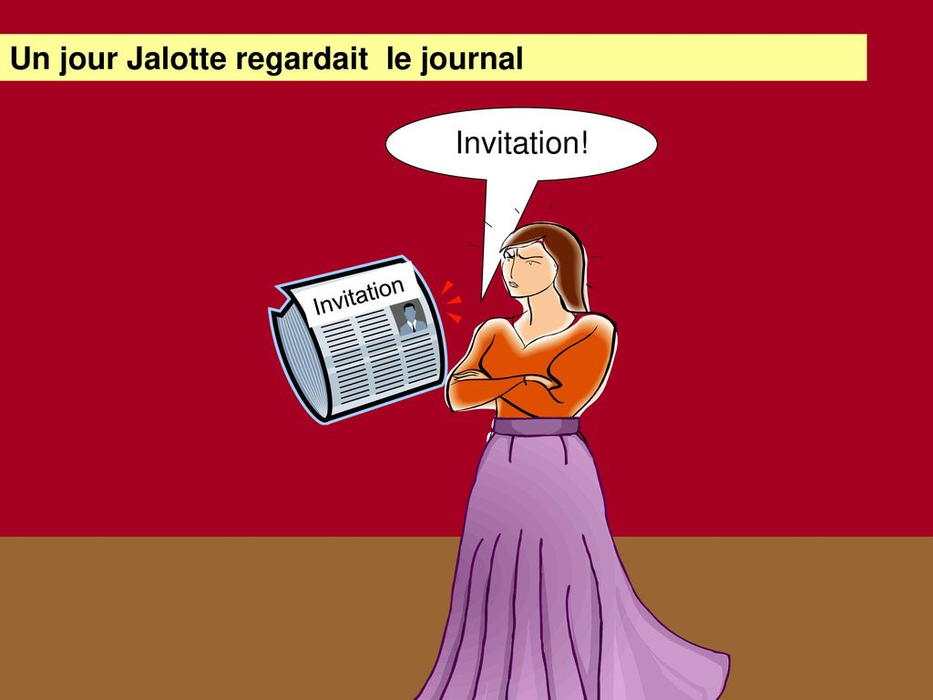 Un jour Jalotte regardait le journal