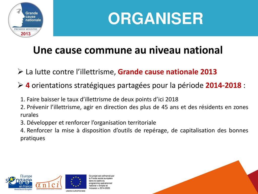 Une cause commune au niveau national