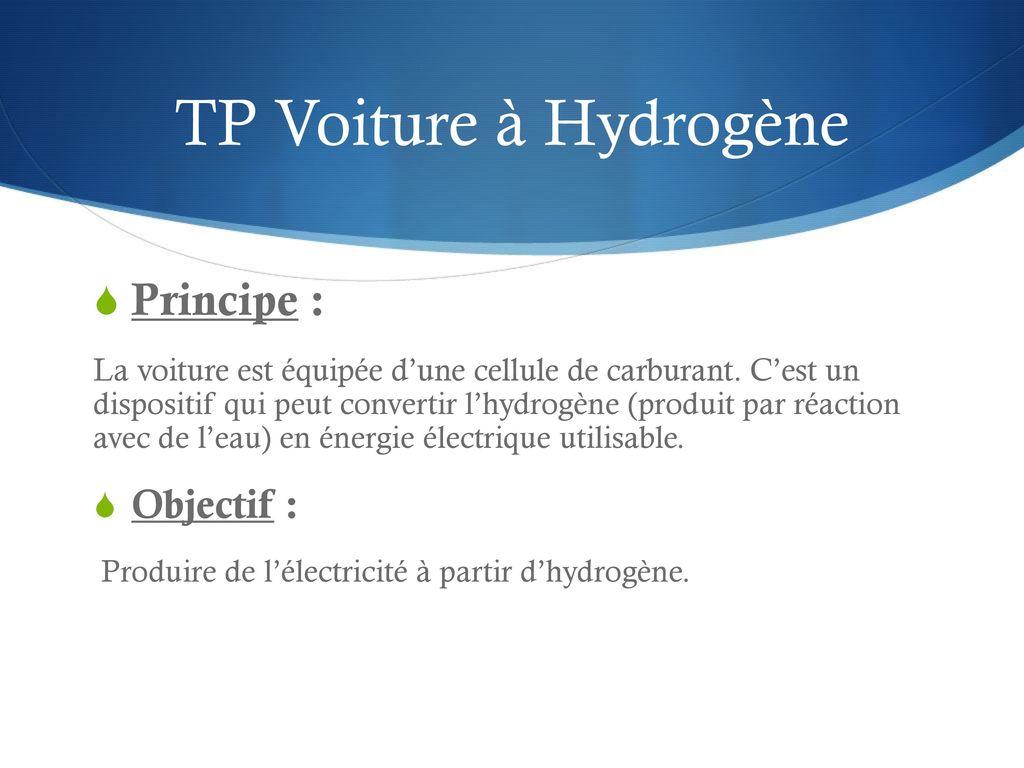 energie eau hydrogene