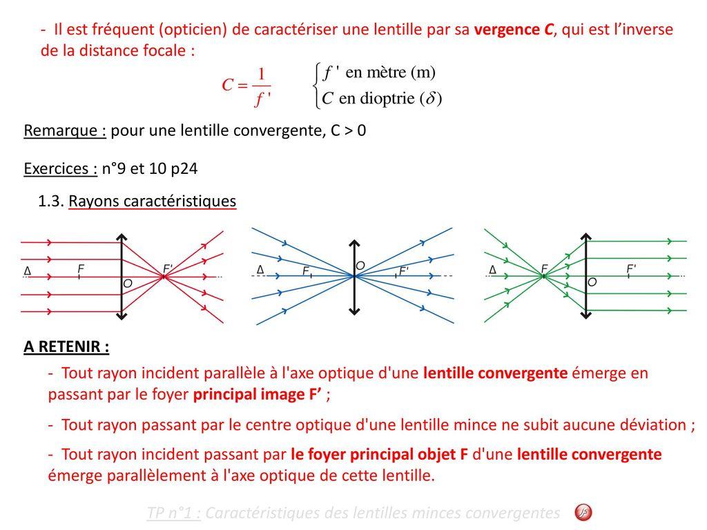 5ef27a88110054 TP n°1   Caractéristiques des lentilles minces convergentes