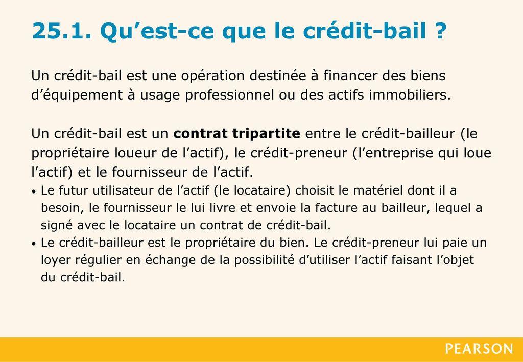 Le Financement Par Credit Bail Ppt Telecharger