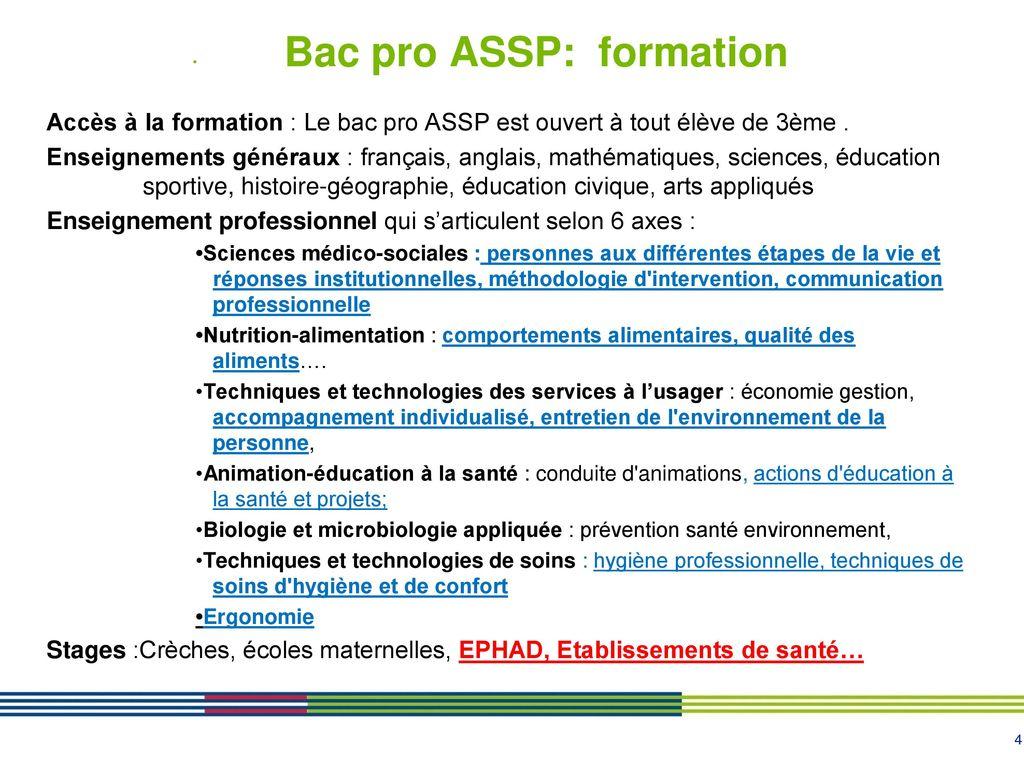 Bac Pro Assp Bac Pro Sapat Ppt Telecharger
