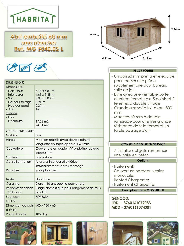 Abri Emboite 60 Mm Sans Plancher Conseils De Mise En Service Ppt