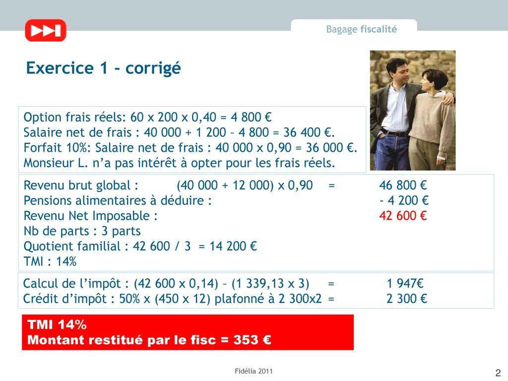 Fiscalite Du Particulier Exercices Corriges Ppt Telecharger