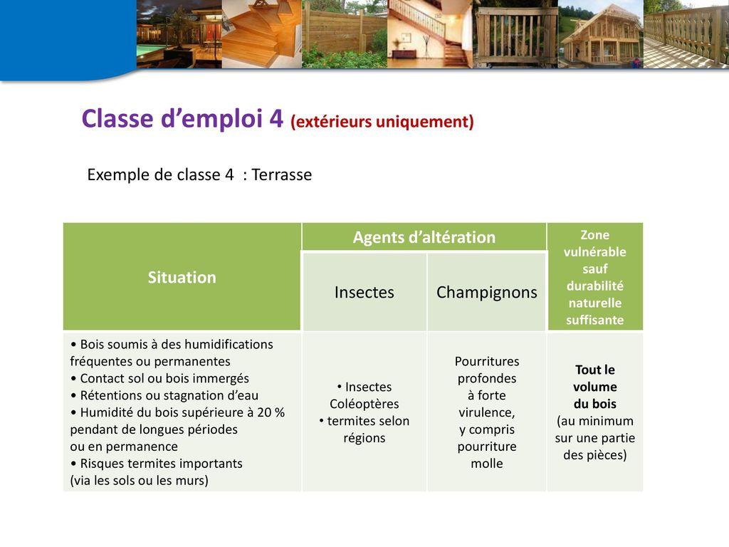 normes sur les classes d'emploi du bois en ppt télécharger