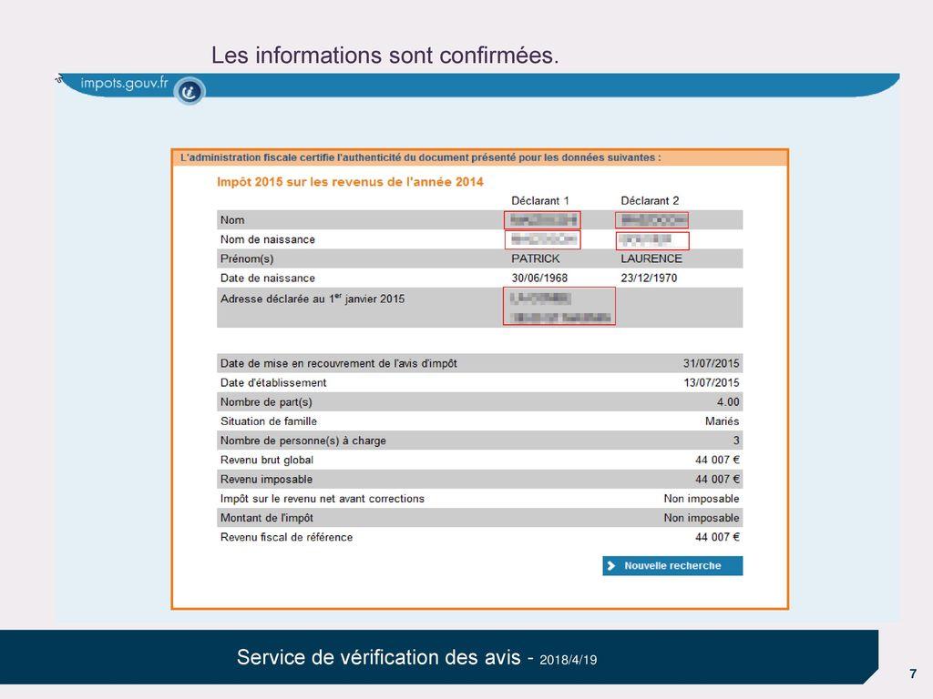 Service De Verification Des Avis Ppt Telecharger