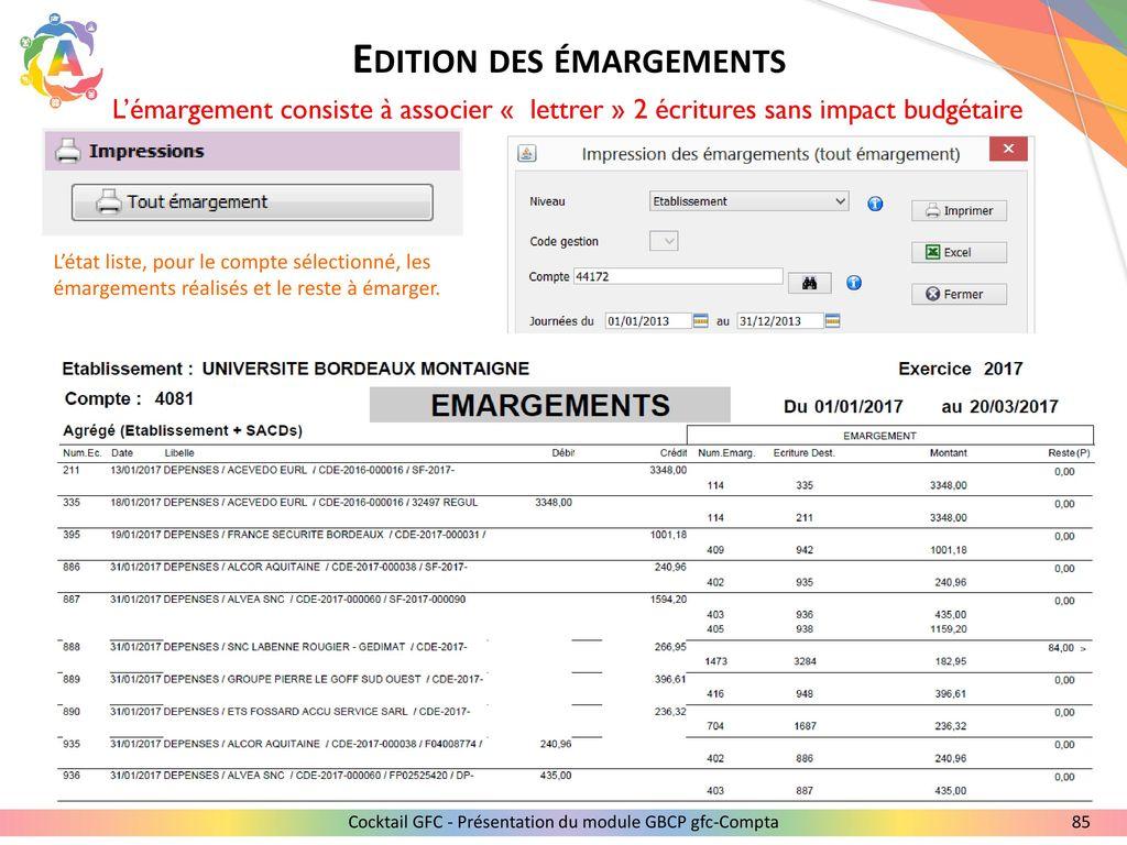 85 Edition Des Emargements