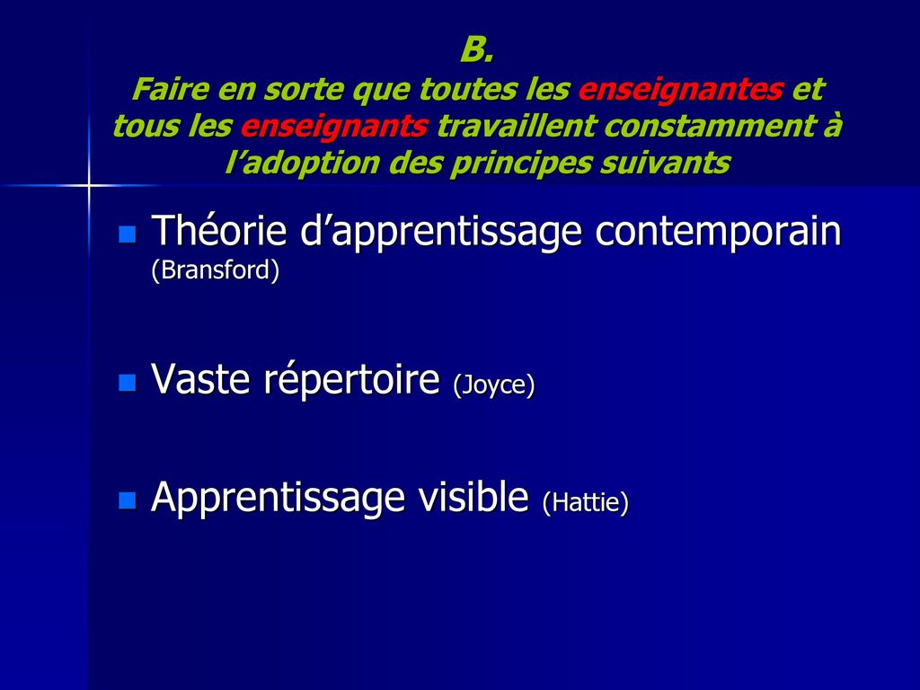 Théorie d'apprentissage contemporain (Bransford)