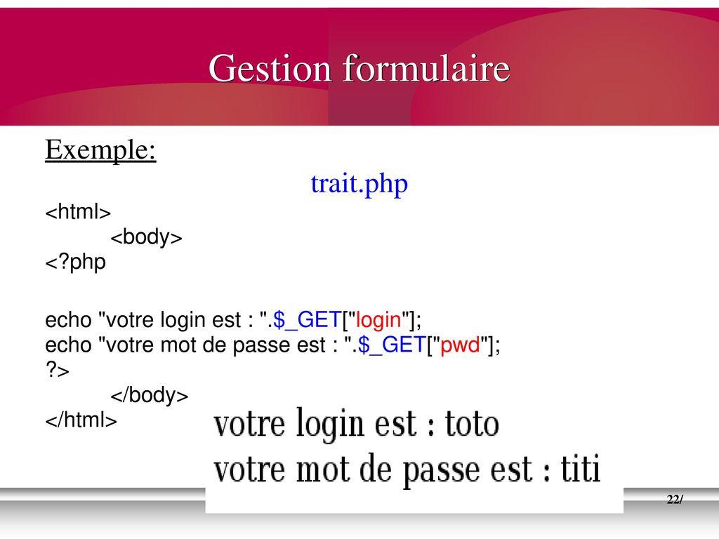 formulaire login et mot de passe php