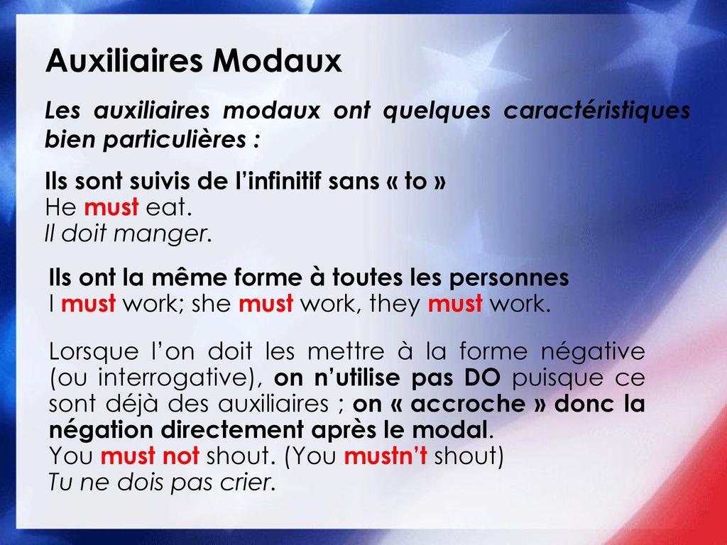 Modal Auxiliary Verbs Les Auxiliaires Modaux En Anglais Ppt Telecharger