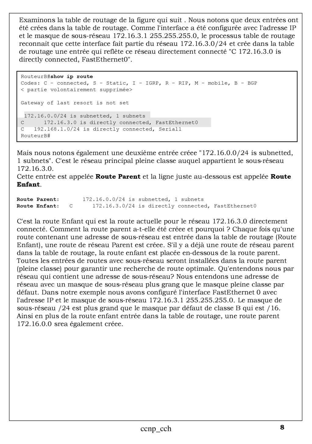Table de Routage Cisco ccnp_cch ccnp_cch. - ppt télécharger