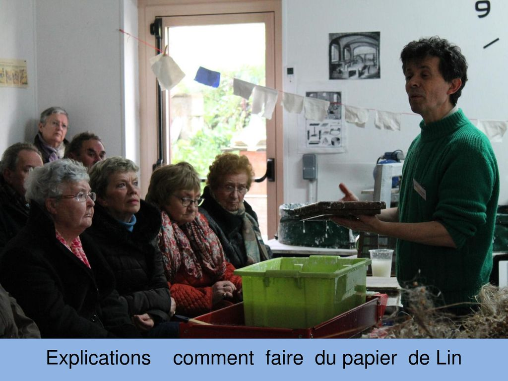 Explications comment faire du papier de Lin