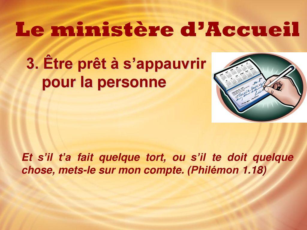 Le ministère d'Accueil - ppt télécharger