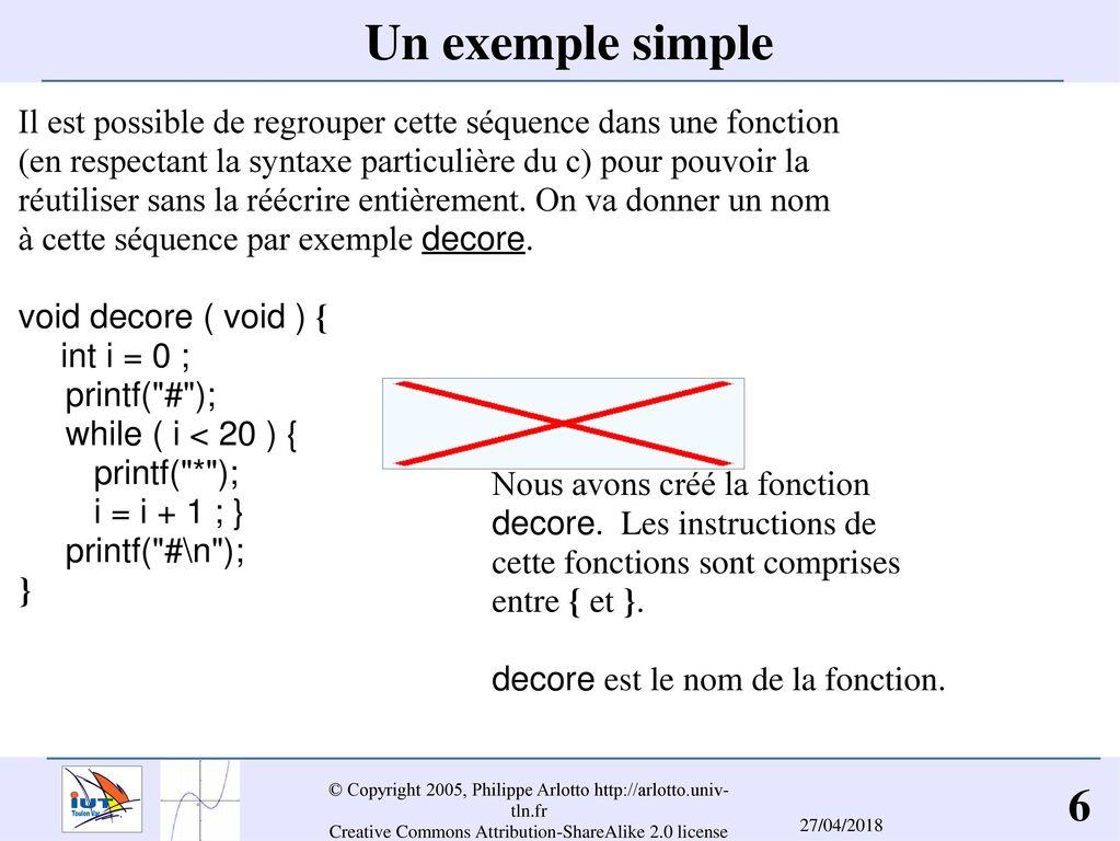 Un exemple simple Il est possible de regrouper cette séquence dans une  fonction. (en 12a65b80262c
