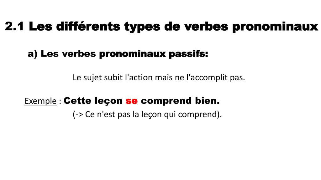 les verbes pronominaux     les verbes r u00e9fl u00e9chis
