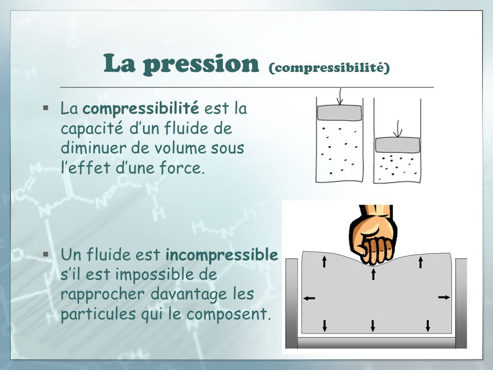 les fluides la pression les fluides compressibles et. Black Bedroom Furniture Sets. Home Design Ideas