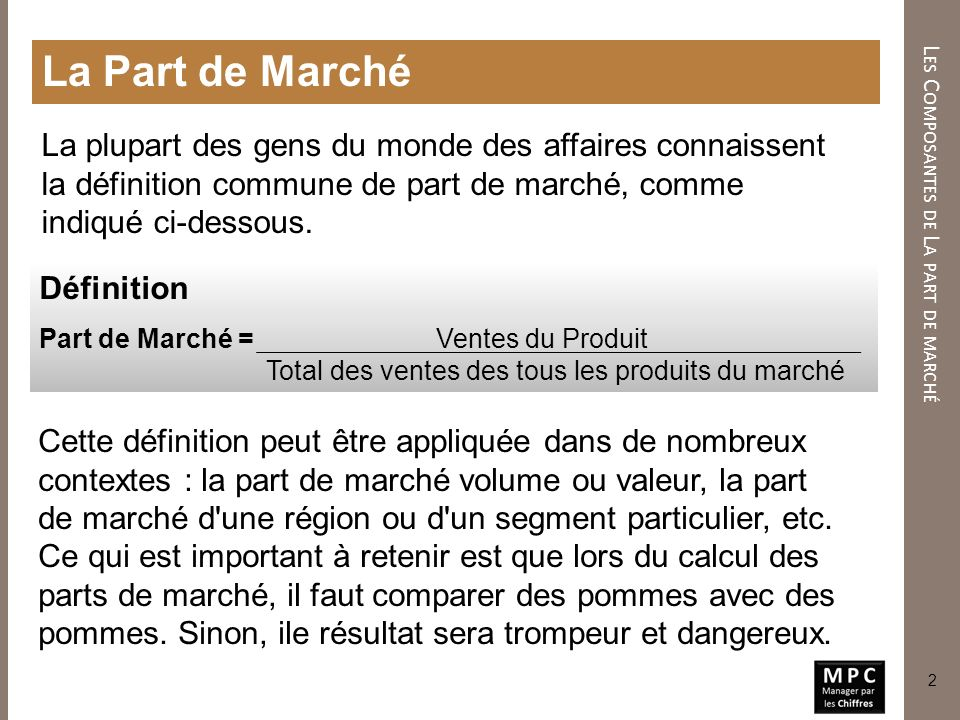 Les Indicateurs De Part De Marche Ii Ppt Video Online Telecharger