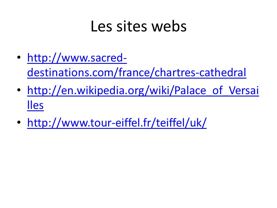 Les sites webs